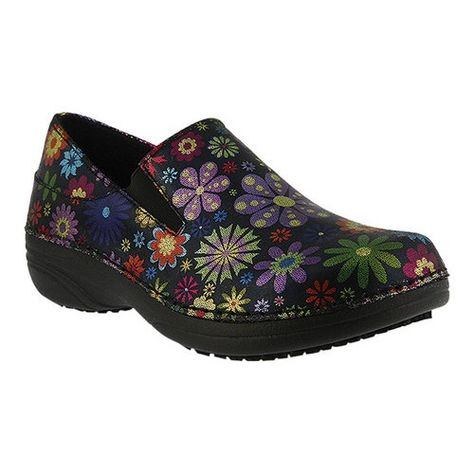 Spring Step Women's Manila, Size: 007, Black Flowerpower Printed Leather |  Spring step and Products