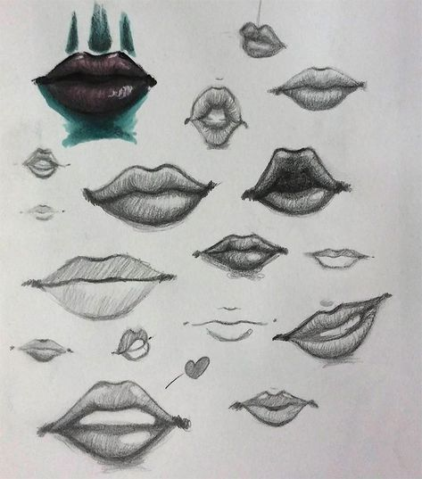 100+ Drawings Of Lips, Mouths & Teeth