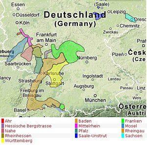 Die Deutschen Weinanbaugebiete Vino Resumen