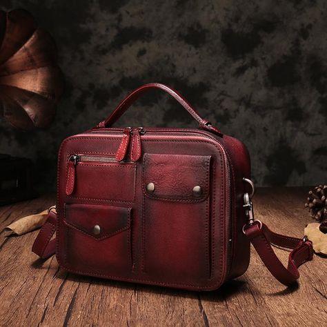 546231af54f9 Vintage Leather Messenger Bags Purse Handbags Shoulder Crossbody Bags –  iLeatherhandbag