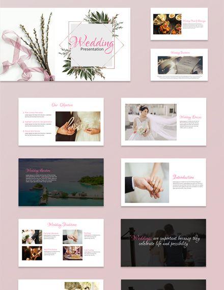 Free Wedding Powerpoint Presentation Prezentaciya Katalog Dizajn