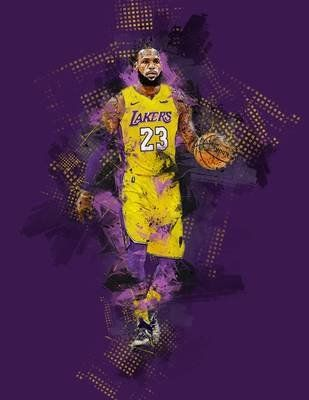 Lebron James Coloring Pages Lakers : lebron, james, coloring, pages, lakers, Camron, Gordon, Lebron,, Kings,, Lebron, James, Lakers