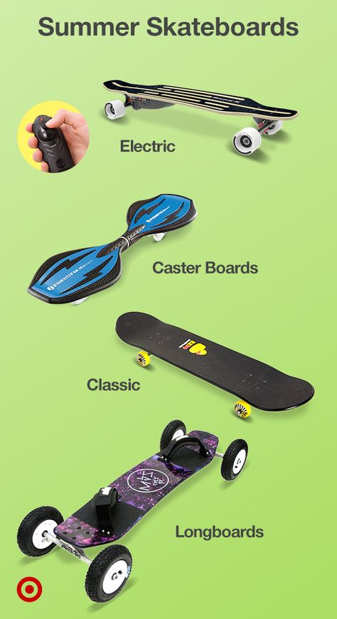 Looking for fun summer activities? Find the perfect skateboard or longboard for cruising  trying new tricks.