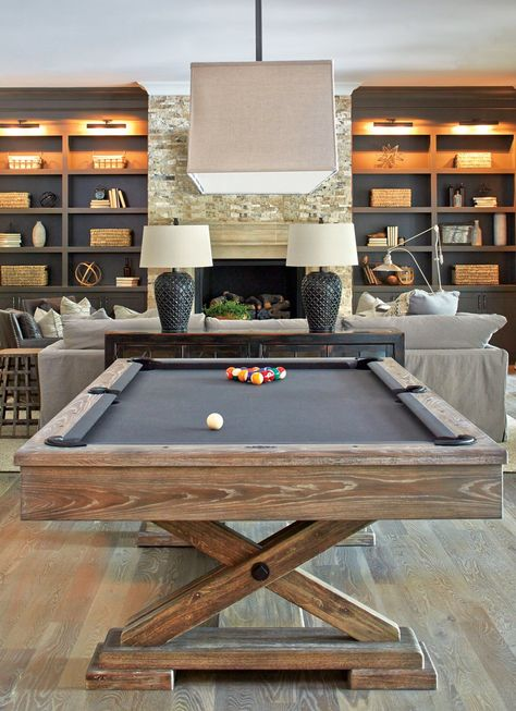 20 Best Rec Room Ideas Decoration For Your Family Entertainment. See more ideas about Game room basement, Game room and Finished basement bars, family room, rec room family, rec room kids. Billard Design, Finished Basement Bars, Finished Basements, Game Room Basement, Basement Ideas, Basement Plans, Basement Apartment, Basement Bathroom, Dark Basement