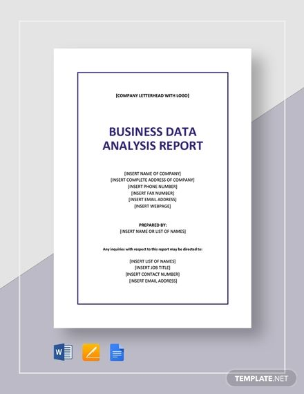 Business Data Analysis Report Template Free Pdf Google Docs Word Template Net Business Data Report Template Stock Analysis