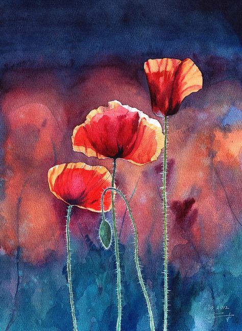 Poppy By Takir On Deviantart Con Imagenes Arte En Lienzo Arte Abstracto Pintura Pinturas