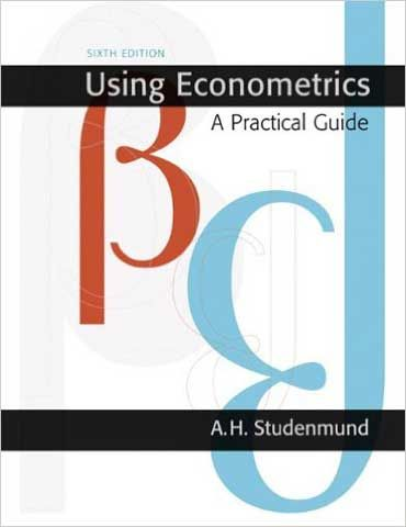 Solution Manual Using Econometrics 6th Edition Studenmund