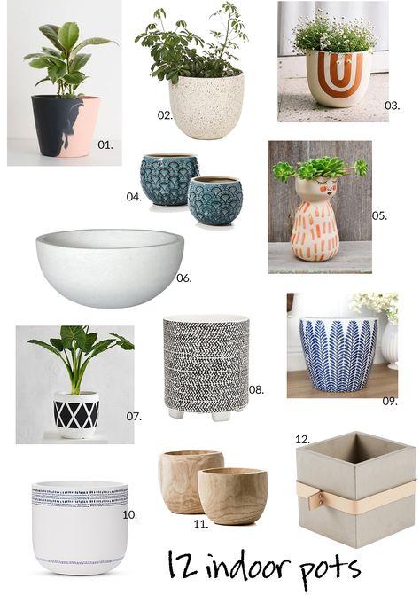 12 indoor pots