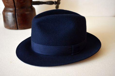 The Nasos - Wool Felt Center Dent Handmade Fedora Hat - Men Women in ... 4cea1dc3125a
