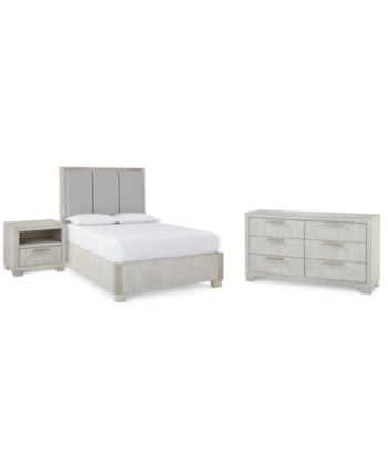 Camilla Bedroom Furniture 3 Pc Set California King Bed Nightstand Dresser Created For Macy S Furniture Bedroom Furniture King Beds