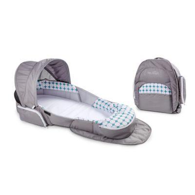 Baby Delight Snuggle Nest Traveler Portable Infant Sleeper In Grey