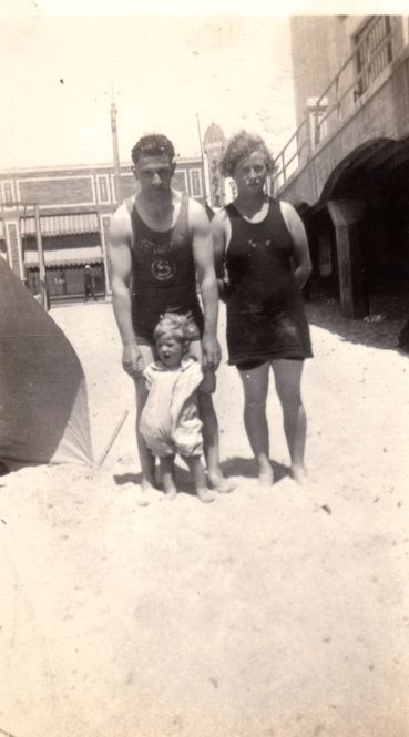 "A photo of Oscar Philibert and Lillie Chatham. Credit: Gena Philibert-Ortega. Read more on the GenealogyBank blog: ""Great-Grandmother's Swimsuit in Vintage Fashion Articles & Photos."" http://blog.genealogybank.com/great-grandmothers-swimsuit-in-vintage-fashion-articles-photos.html"