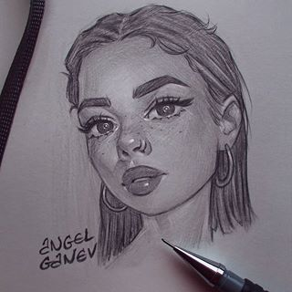 Drawing Girl Love And Beautiful Girl Face Drawing Art Sketches Pencil Art Drawings