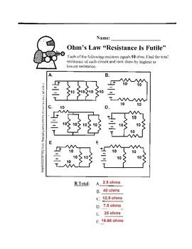 13 Best Images of Ohms Law Practice Problems Worksheet Ohms ...