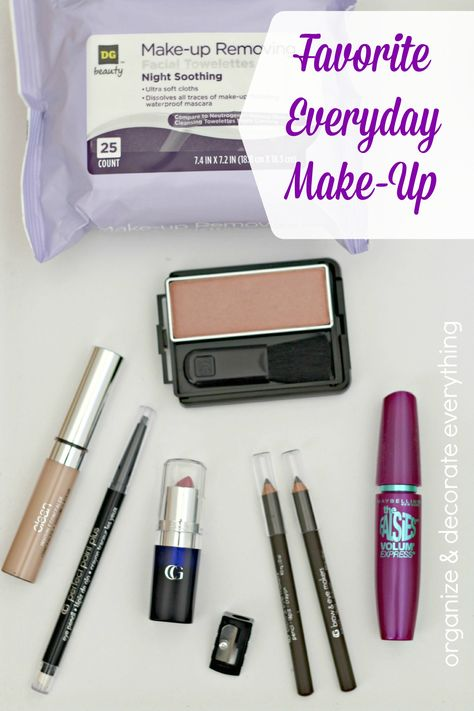 My Favorite Everyday Make Up and great organizing ideas!