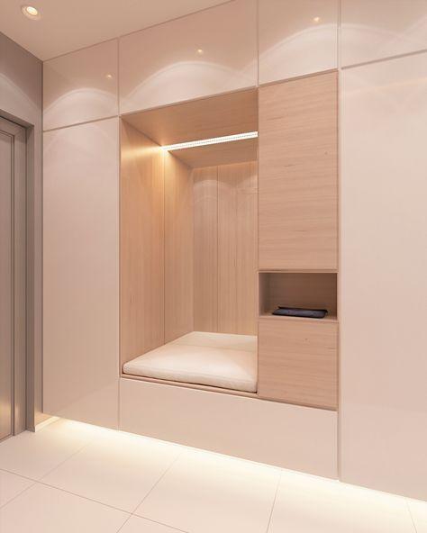 Proekt Kvartiry 48 M2 Garderoben Eingangsbereich Wohnung Badezimmer Und Flur Design