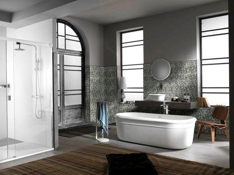 Bagno Moderno Bianco E Nero.Mosaico Bagno Bianco E Nero Arredo Bagno Moderno Design Per