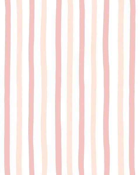 'Stripes' Wallpaper by Clare V. - Shell - Wallpaper Roll