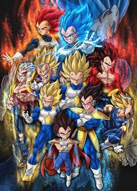 The Evolution Of Vegeta Ii Poster By David Onaolapo Displate Dragon Ball Art Anime Dragon Ball Super Dragon Ball Painting