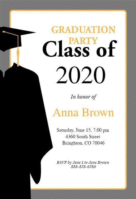 Graduation Ceremony Invitation Card New Graduation Party Invitatio In 2020 Graduation Invitations Template Graduation Party Invitations Templates Party Invite Template