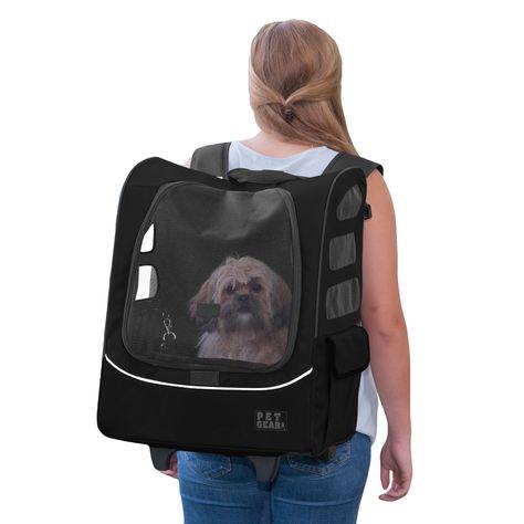 Pet Gear I-GO-2 Travler Plus Pet Backpack Carrier in Black