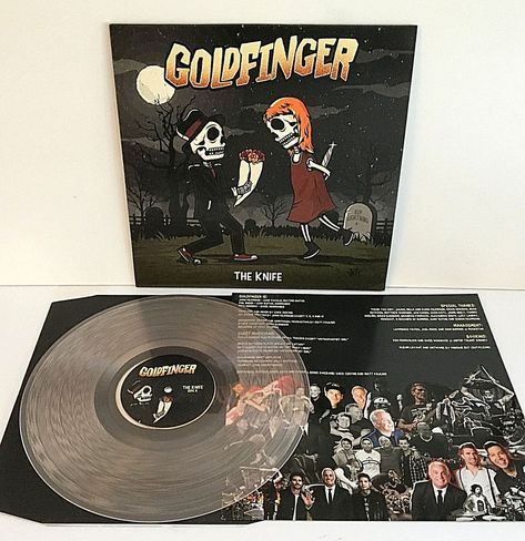 Goldfinger Knife Clear W Red Haze Vinyl Lp Record Feat Nick 311 Mark Blink 182 Punkpunknewwave Record Store Gold Vinyl