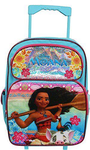 "lunchbag Disney Moana 12/"" Backpack Roller Small Backpack Moana Rolling Backpack"