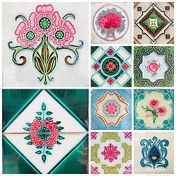 A Beautiful Peranakan Tile Pattern Lends A Traditional Touch To The Modern Decor Or Helps Spruce Up Th Center Table Decor Decorative Wall Tiles Unique Coasters