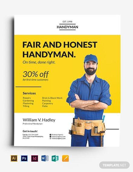 Handyman Flyer Flyer Business Flyer Templates