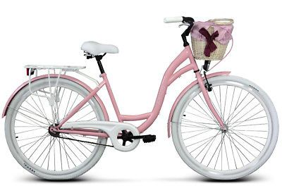 Damenfahrrad Fahrrad Mit Korb 28 Zoll Citybike Retro Goetze Colours Rosa Damenfahrrad Fahrrad Speichen Fahrrad