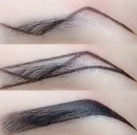 Z-Type Eyebrow Makeup Technique