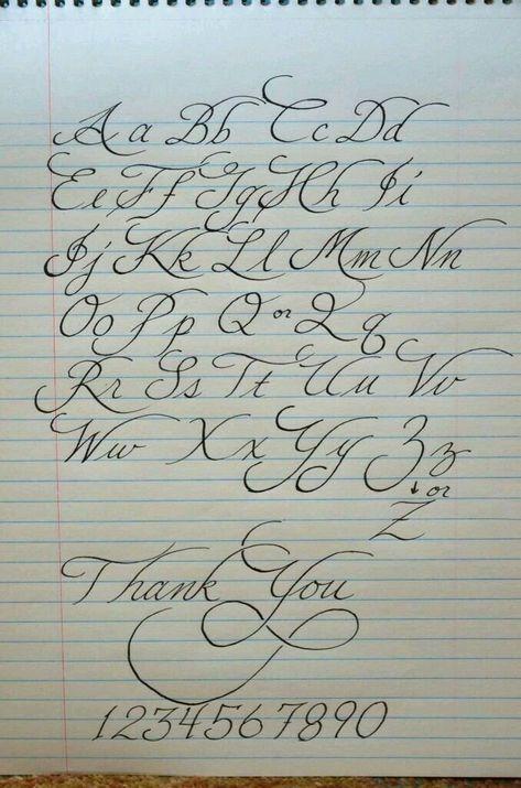 Schone Handschrift Vorlage Tattoo Schrift Buchstaben Schone