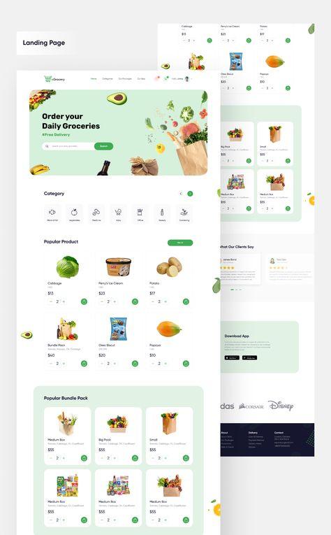 E Grocery App UI Kit