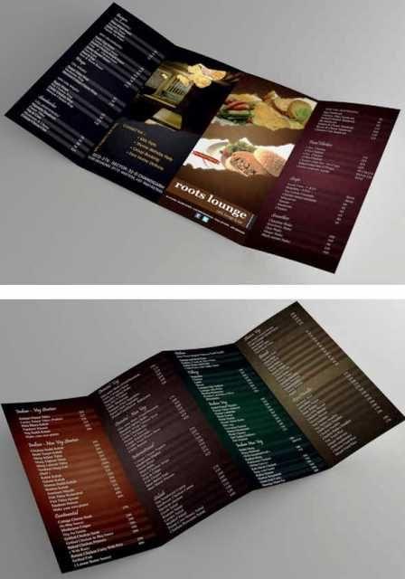 Desain Brosur Restoran  Contoh Flyer Menu Cafe Dan Restoran