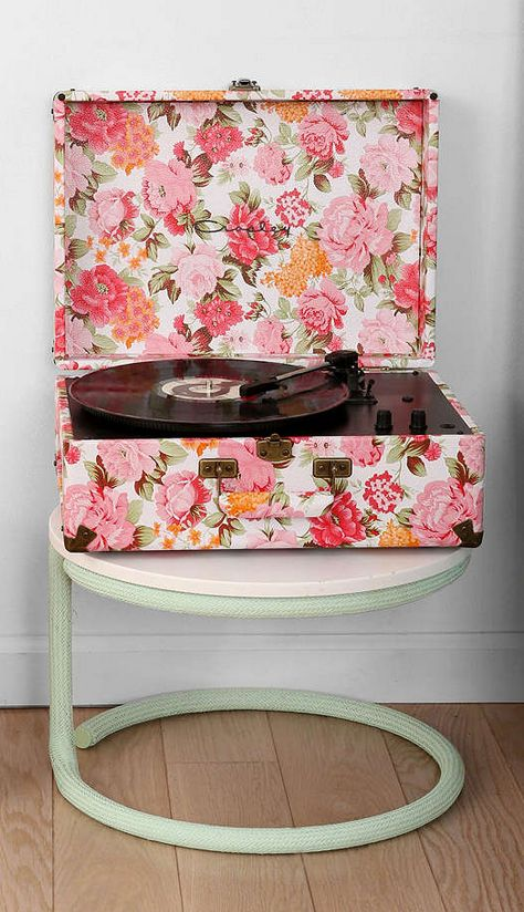CROSLEY RECORD PLAYER FLORAL PRINT On The Hunt | Music Display | Pinterest  | Crosley Record Player, Floral And Printing