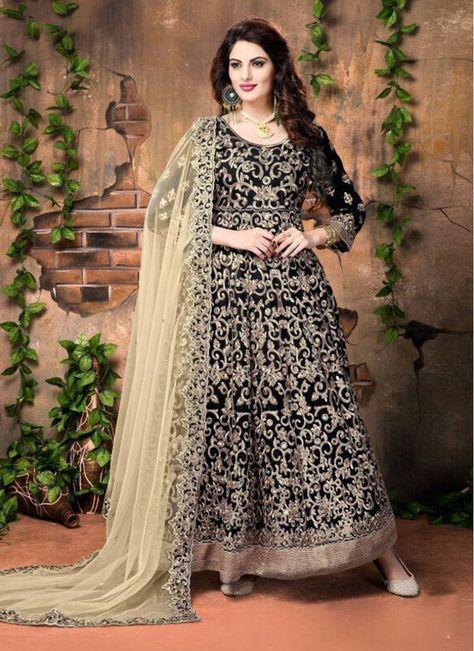 9765f322d0 Black Banglori Silk Lace Decent Party Wear Salwar Suit
