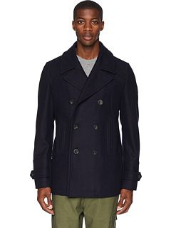newest style of size 7 limpid in sight BELSTAFF Durdan Mid-Weight Wool Melton Peacoat | Coats ...