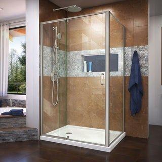 Dreamline Flex 36 In D X 48 In W X 74 3 4 In H Pivot Shower