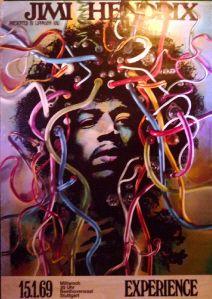 Indian Jimi Hendrix Studio Poster Music Guitar Print Wall Hanging Boho Decor Art