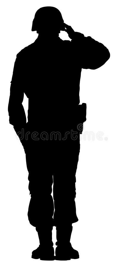 Saluting Army Soldier S Silhouette Isolated On White Background Memorial Day V Ad Silhouette Isolated Sol Soldier Silhouette Army Soldier Silhouette