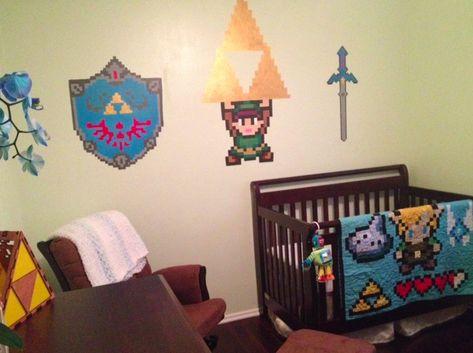 Legend of Zelda Nursery -- hmm i wonder if the baby's name is either Link or Zelda :D #BabyProblem