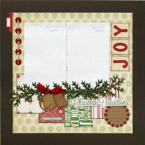 Premade Scrapbook Page 12 x 12 Christmas Layout by designstudioL