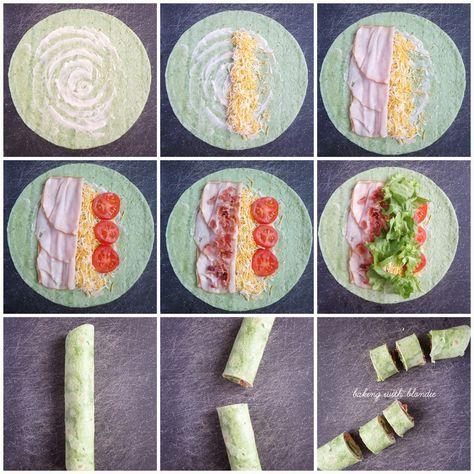 Baking with Blondie : Turkey Club Tortilla Pinwheels