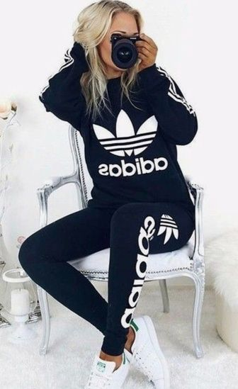 Adidas Workout Outfit Winter Workout Outfit Winterworkout Adidas Adidas Outfit Sporty Outfits Adidas Women