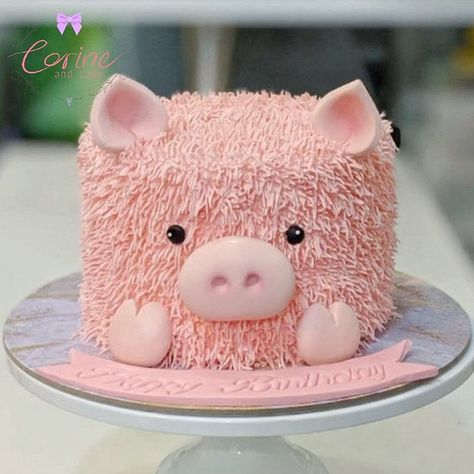 Oink Oink Pig – Corine and Cake Animal Birthday Cakes, Farm Animal Birthday, Farm Birthday, Funny Birthday Cakes, Farm Animal Cakes, Animal Cakes For Kids, Pig Baby Shower, Piggy Cake, Pig Cupcakes