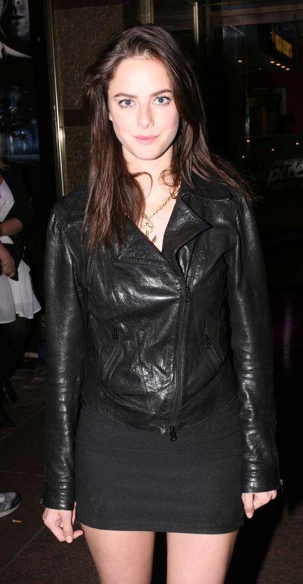 Kaya Scodelario Leather Jacket April 2017