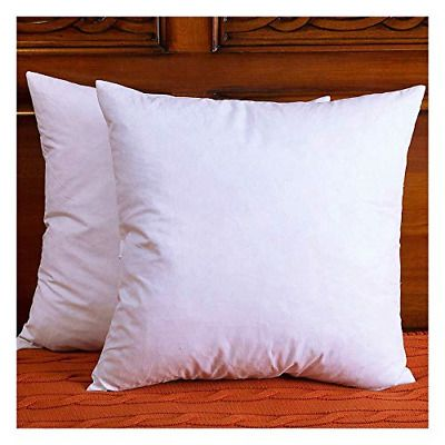 Details About Cotton Fabric Throw Pillow Inserts Down Feather