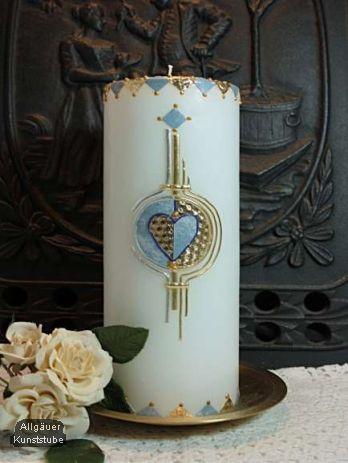 Hochzeitskerze Marit Mit Herz Hochzeitskerze Kerzen Und