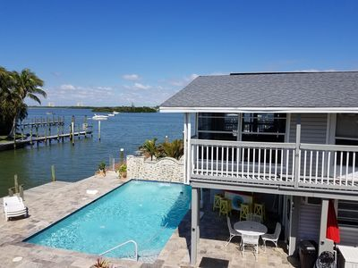 On Water With Beautiful Back Bay View Walk Downtown Fantastic Pool Fort Myers Beach Fort Myers Beach Beach Vacation Rentals Fort Myers