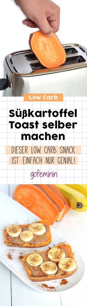 Süßkartoffel-Toast selber machen: So gelingt der Low Carb Snack! #lowcarb #süßkartoffel #lowcarbrezepte #abnehmen